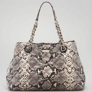 KATE SPADE Maryanne Python snakeskin tote hand bag